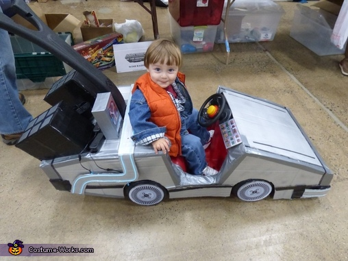 Check out the time circuits and flux capacitor!, Mini Marty McFly Costume
