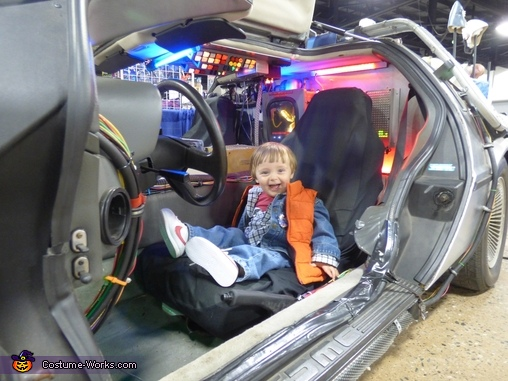 He LOVED the Real DeLorean. He didn't want to go back to his OWN car!, Mini Marty McFly Costume