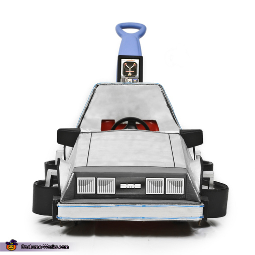 Delorean Time Machine front view, Back to the Future Marty McFly Costume