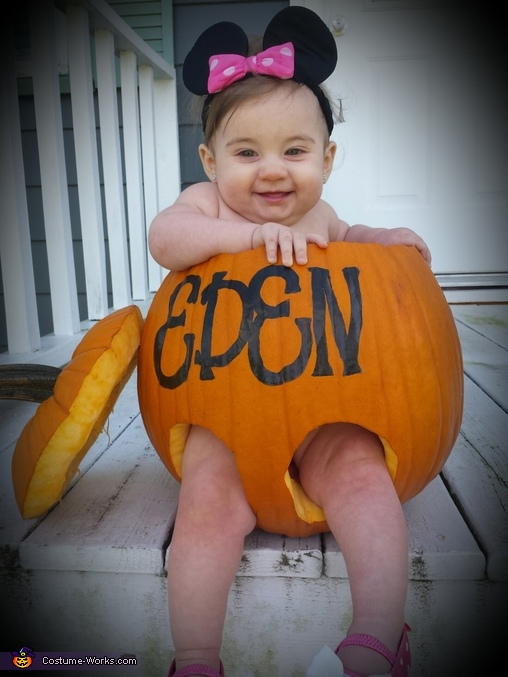 Mini Pumpkin Minnie Baby Costume