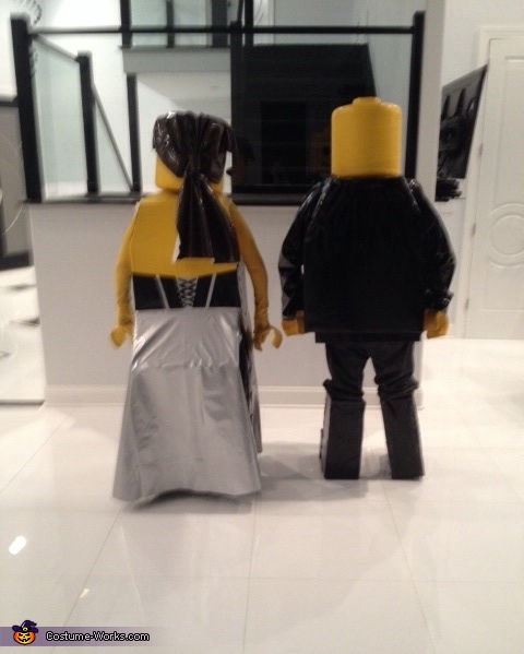 Rear view, Minifig Black Tie Affair Lego Costume