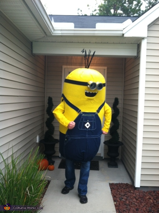 Homemade Minion Adult Costume