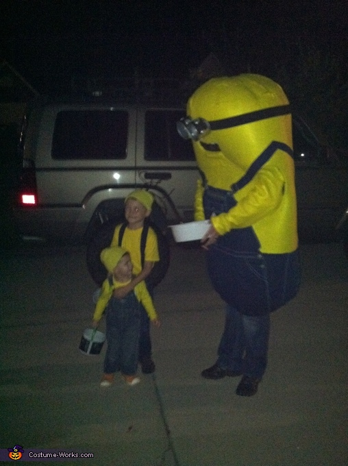 2 mini minions!, The Husband's Masterful Minion Costume