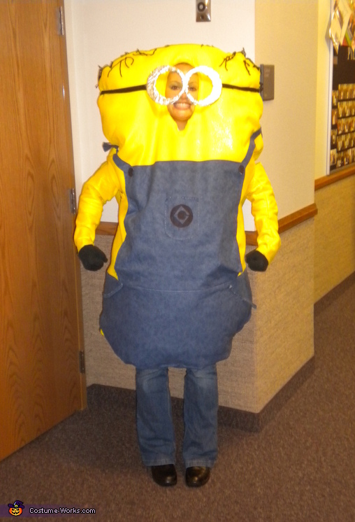Full shot of Minion, Minion and Gru Couple Costume