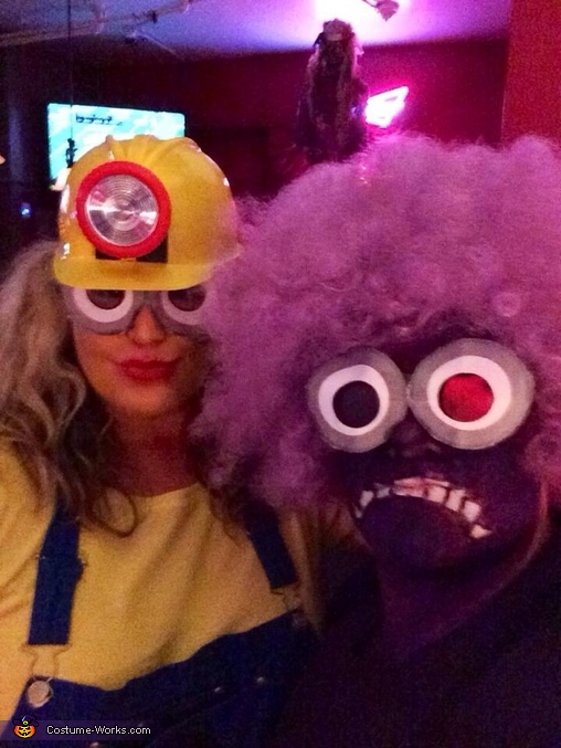 The minions makeup , Minion Dave and El Macho Minion Costume