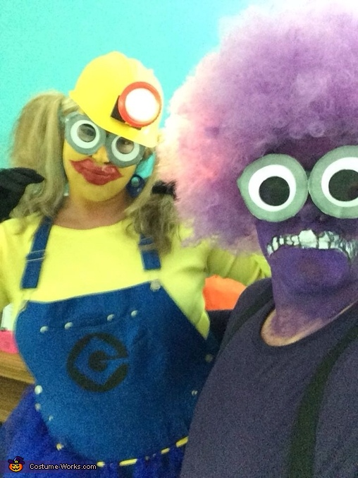 Crazy minions having fun , Minion Dave and El Macho Minion Costume