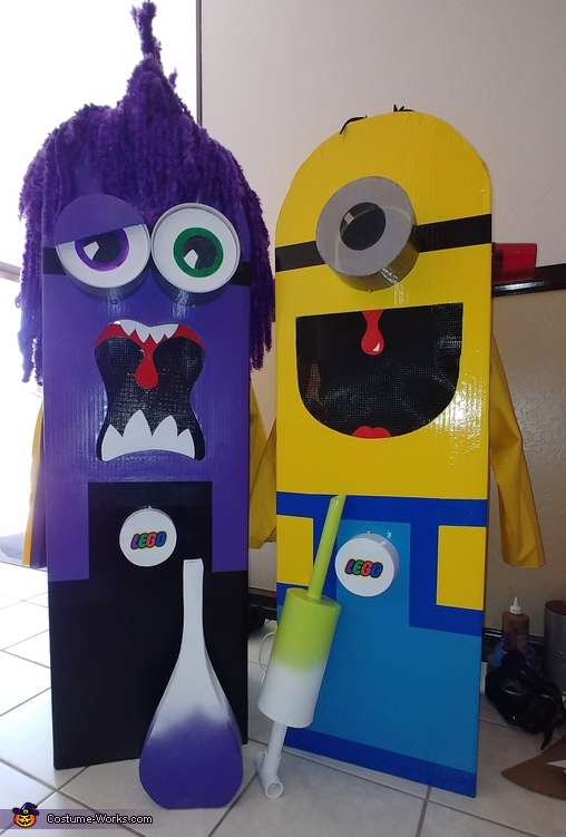 Part two..double sided purple minion, Minions Costume