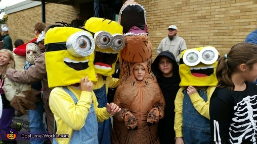 Pic with some friends!, Minions: Stuart, Kevin & Bob Costume