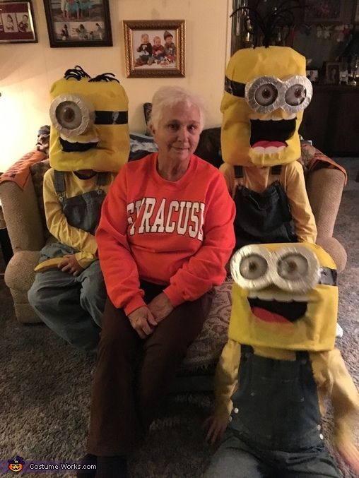 Proud Nana with her little Minions!, Minions: Stuart, Kevin & Bob Costume