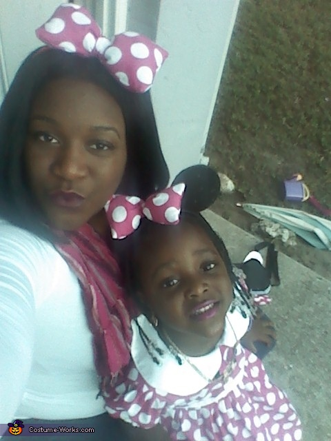 mommy and me, Homemade Minnie Mouse Costume