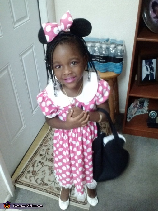 before the trick or treating, Homemade Minnie Mouse Costume