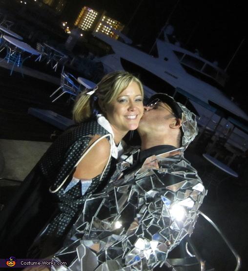 With my girlfriend, Mirror Man Costume