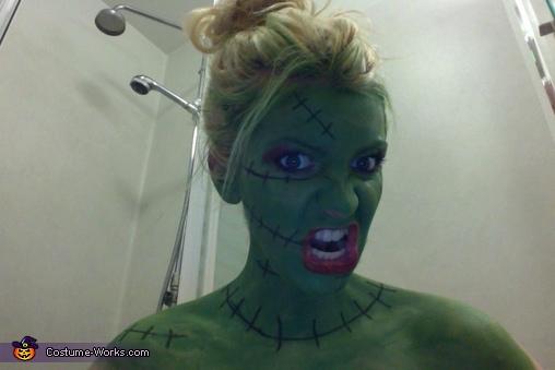 Miss Frankenstein Homemade Costume