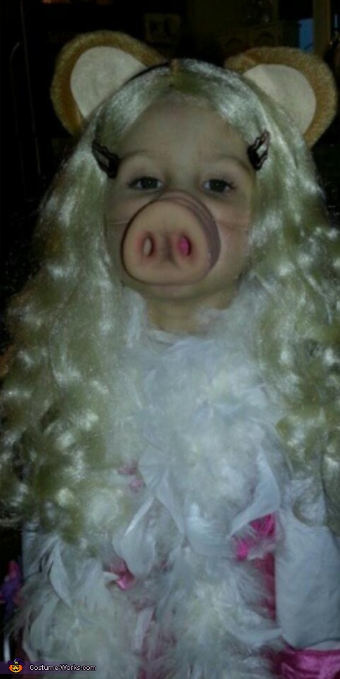 Miss. Piggy Homemade Costume