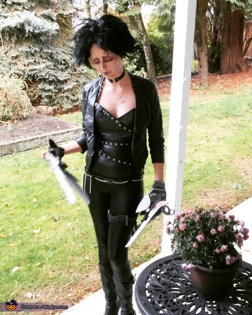 Miss Scissor Hands Homemade Costume