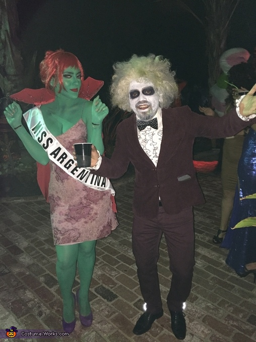 Miss.Argentina & Beetlejuice Homemade Costume