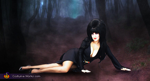 Classic Elvira Pose, Mistress of the Dark and the Prince of Darkness Costume