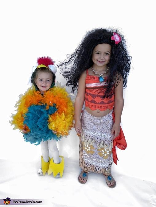 Moana and Hei Hei Costume