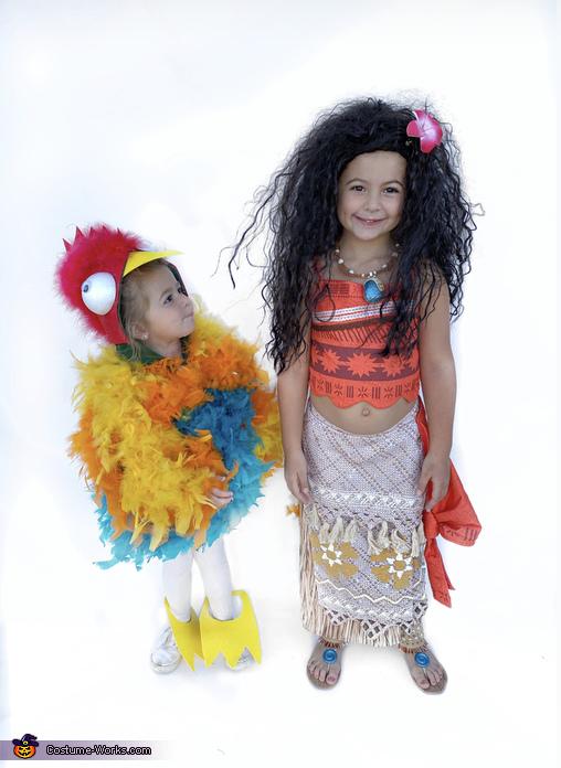 Moana and Hei Hei Homemade Costume