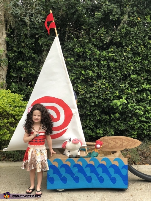 Moana and her Boat Costume