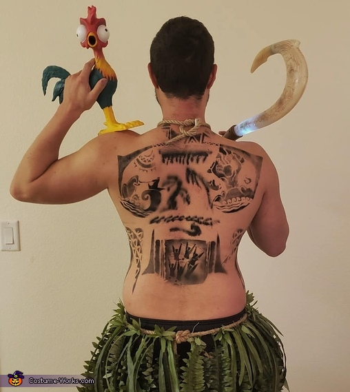 Moana and Maui Homemade Costume