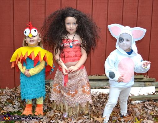 Hei Hei, Moana, and Pua, Moana Cast Costume