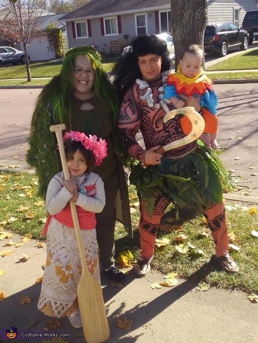Moana Family Costume