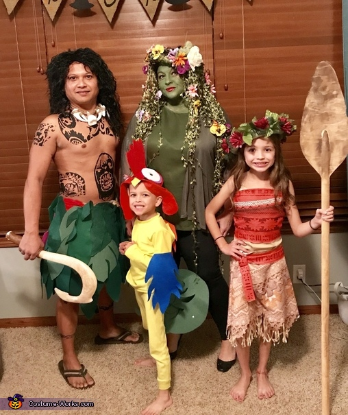 Moana Family Costume