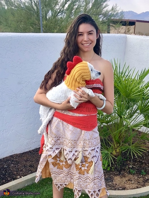 Moana & Heihei in the Sonoran desert, Moana & Heihei Costume