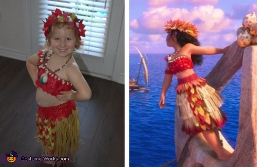 Costume based on Moana's Voyager Scene outfit, Moana the Voyager Costume