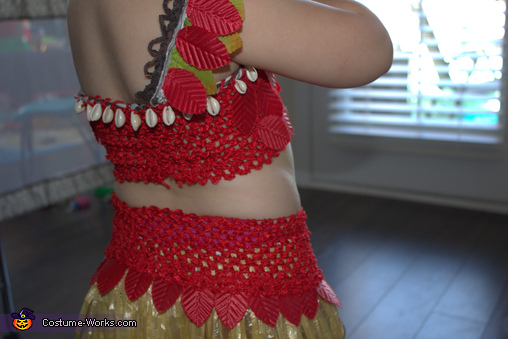 Back Details, Moana the Voyager Costume
