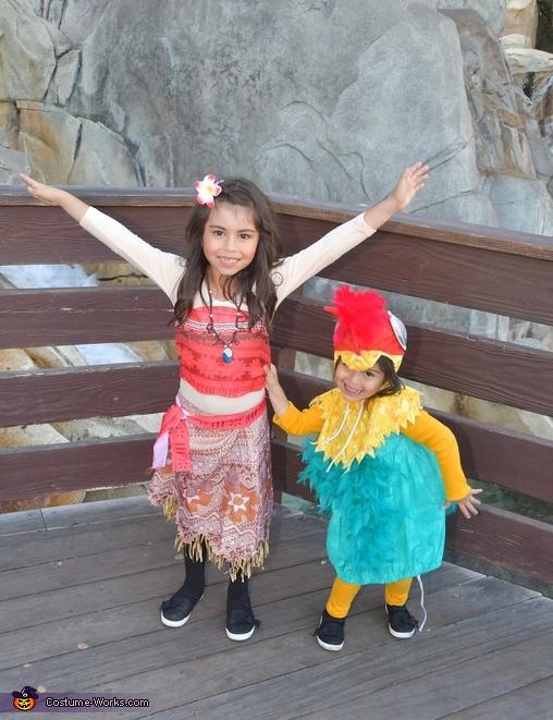 Moana and hei hei, Moana Theme Costume