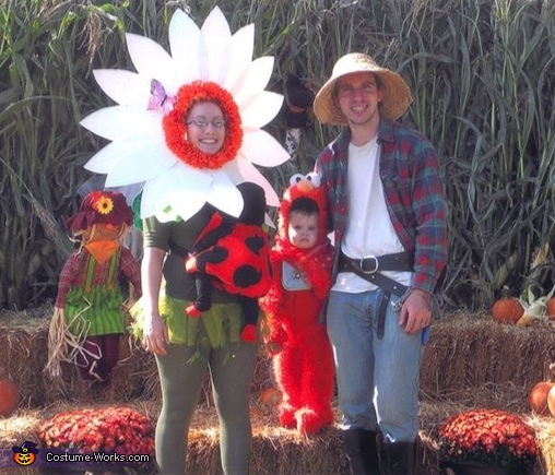 Mommy Flower and Baby Ladybug Family Costume