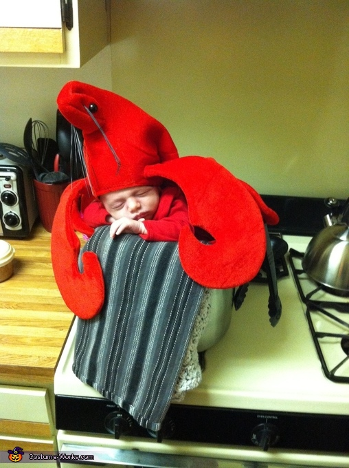 Almost done!, Mommy's Little Lobster Costume