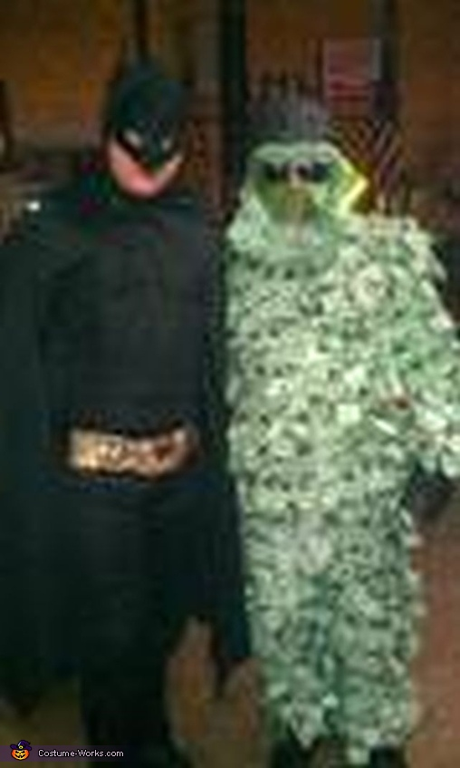 With my son dress at Batman, Money Man Costume