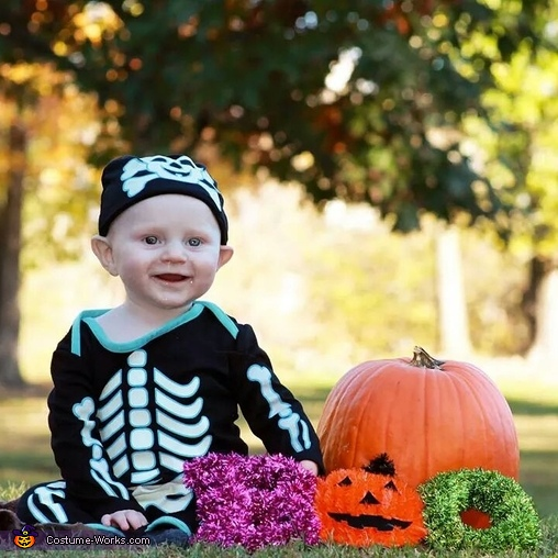 Sweet skeleton , Monkey Baby Costume