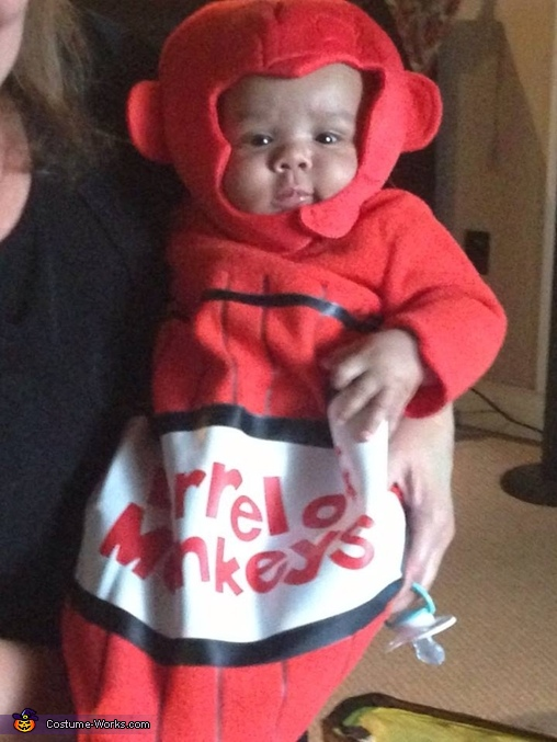 Monkey in a Barrel Baby Costume