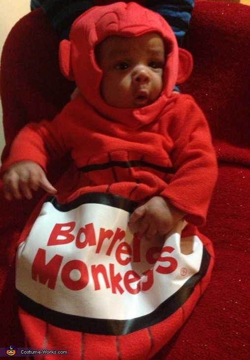 Monkey Love, Monkey in a Barrel Baby Costume