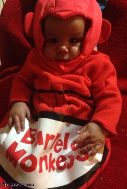Korey the Monkey, Monkey in a Barrel Baby Costume
