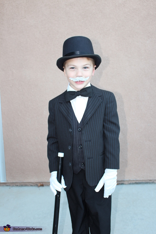 Mr. Monoply--he loved the cane & the hat!  Plus, he kind of monopolizes our attention!, Monopoly Family Costume