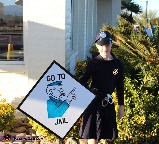 Go To Jail--Little Miss is a bit of an 'enforcer' so this was perfect for her!, Monopoly Family Costume