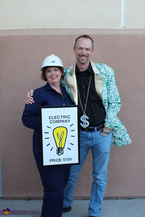 Electric Company & Banker---Mom keeps everything running and Dad is the bank of the family!, Monopoly Family Costume