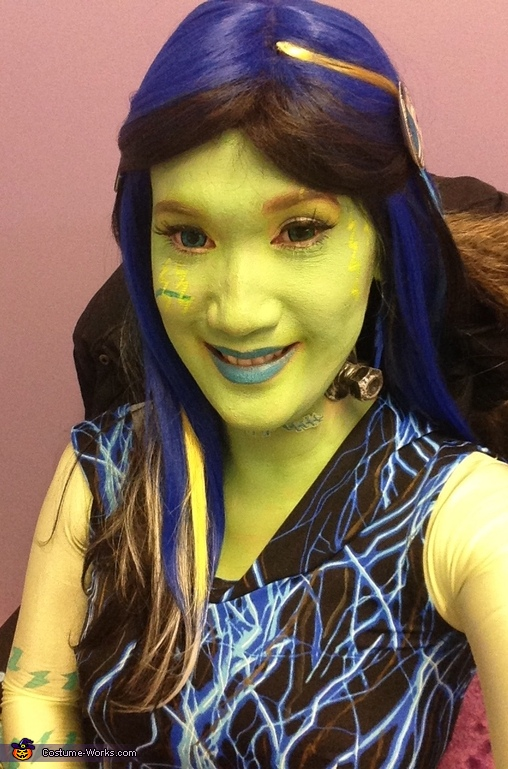 My Wig and Circle Lenses, Monster High Freaky Fusion Frankie Stein Costume