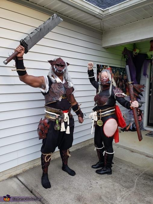 Odogaron Victory Pose2, Monster Hunter Odogaron Armor Set Costume