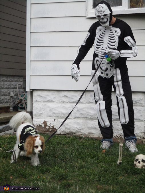 Mr. Skellybones and his dog, Monster Mash Costume