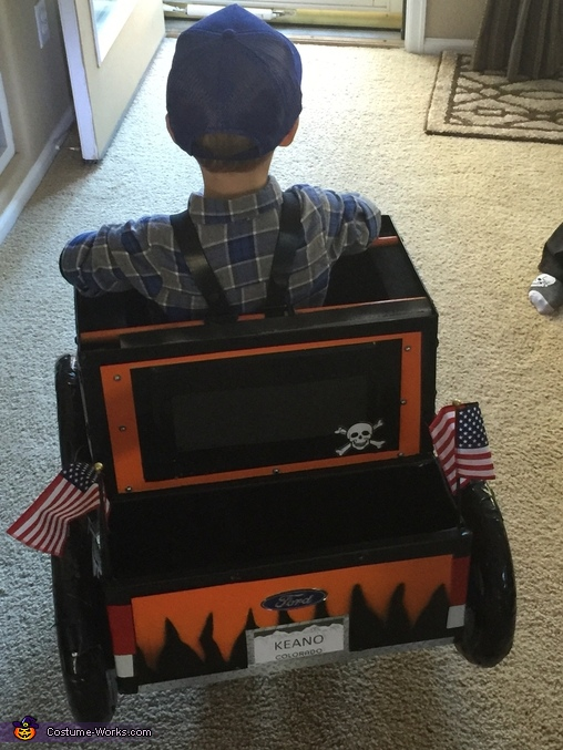 From the back, Monster Truck 4.0 Costume