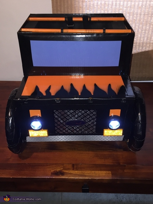 With lights on, Monster Truck 4.0 Costume