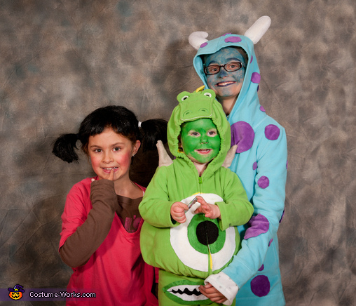Sully, Boo and Mike Wazowski2, Monsters Inc. Costumes