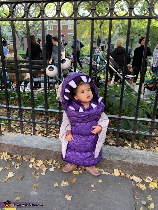Boo at the park 2, Monsters Inc Boo Costume