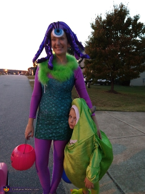 Monsters inc Celia Homemade Costume